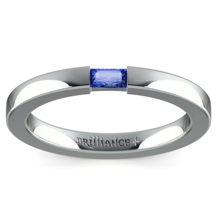 Men's Engagement Ring with Baguette Sapphire | 02