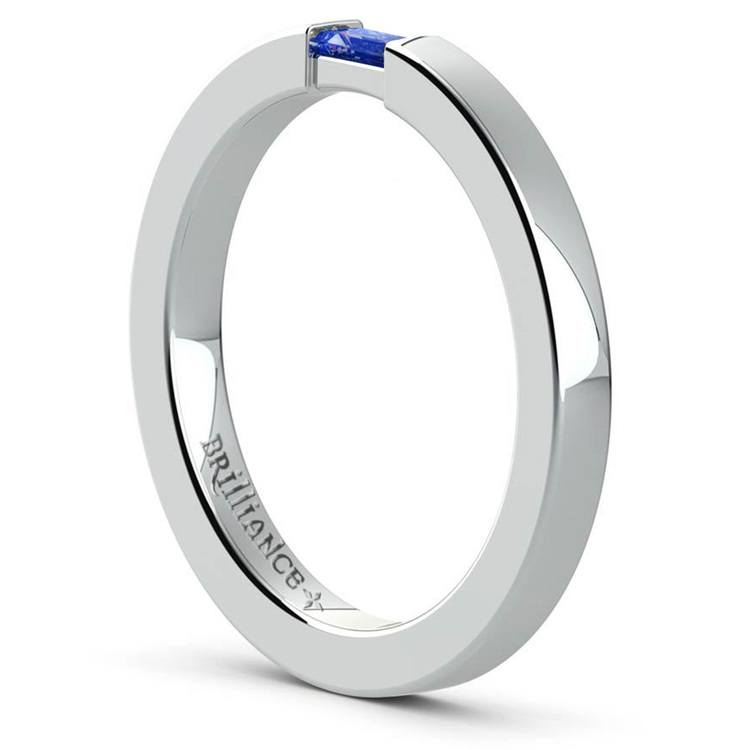 Men's Engagement Ring with Baguette Sapphire | 04