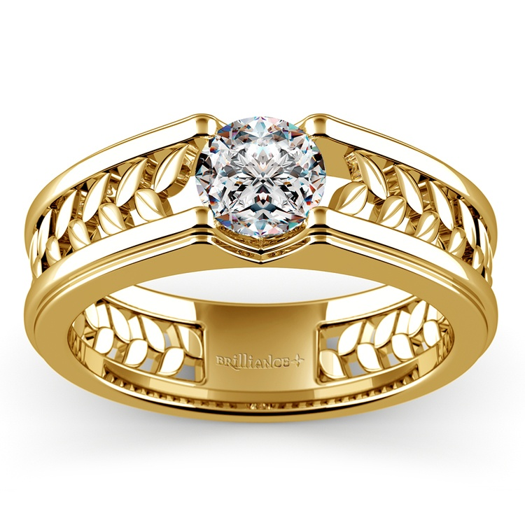 Narcissus Solitaire Mangagement™ Ring in Yellow Gold (1 ctw) | 01