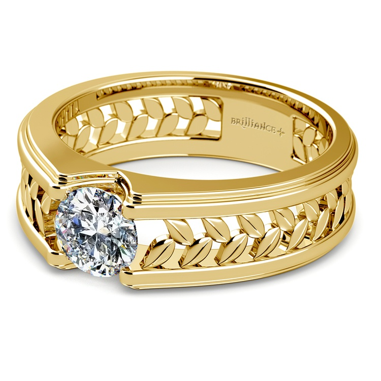 Narcissus Solitaire Mangagement™ Ring in Yellow Gold (1 ctw) | 04