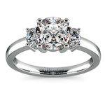 Oval Diamond Engagement Ring in Platinum (1/3 ctw) | Thumbnail 01