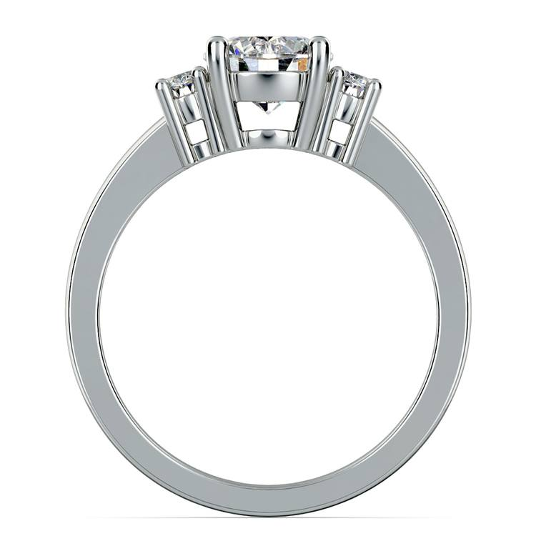 Oval Diamond Engagement Ring in Platinum (1/3 ctw) | 02