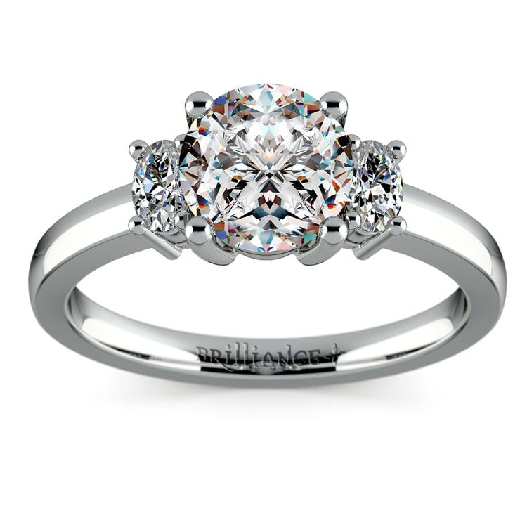 Oval Diamond Engagement Ring in White Gold (1/3 ctw) | 01