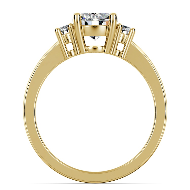 Oval Diamond Engagement Ring in Yellow Gold (1/3 ctw) | 02