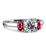 Oval Ruby Gemstone Engagement Ring in Platinum | Thumbnail 04