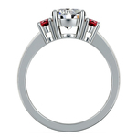 Oval Ruby Gemstone Engagement Ring in White Gold   Thumbnail 02