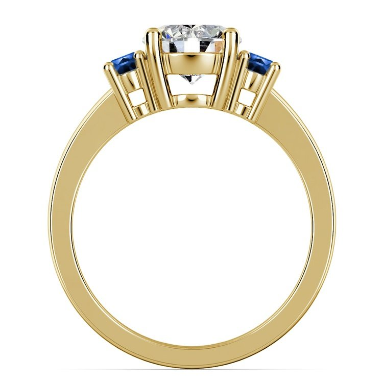 Oval Sapphire Gemstone Engagement Ring in Yellow Gold | 02
