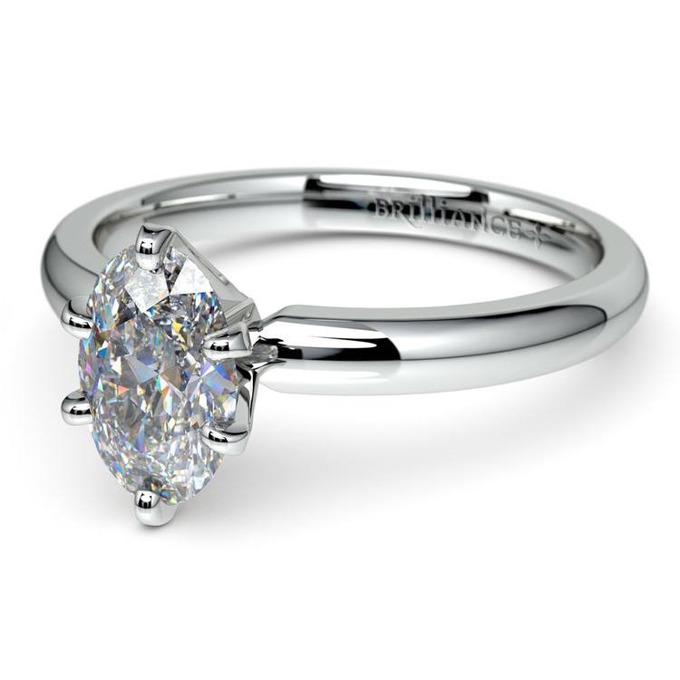 Oval Solitaire Engagement Ring (0.33 Carat Diamond)   01