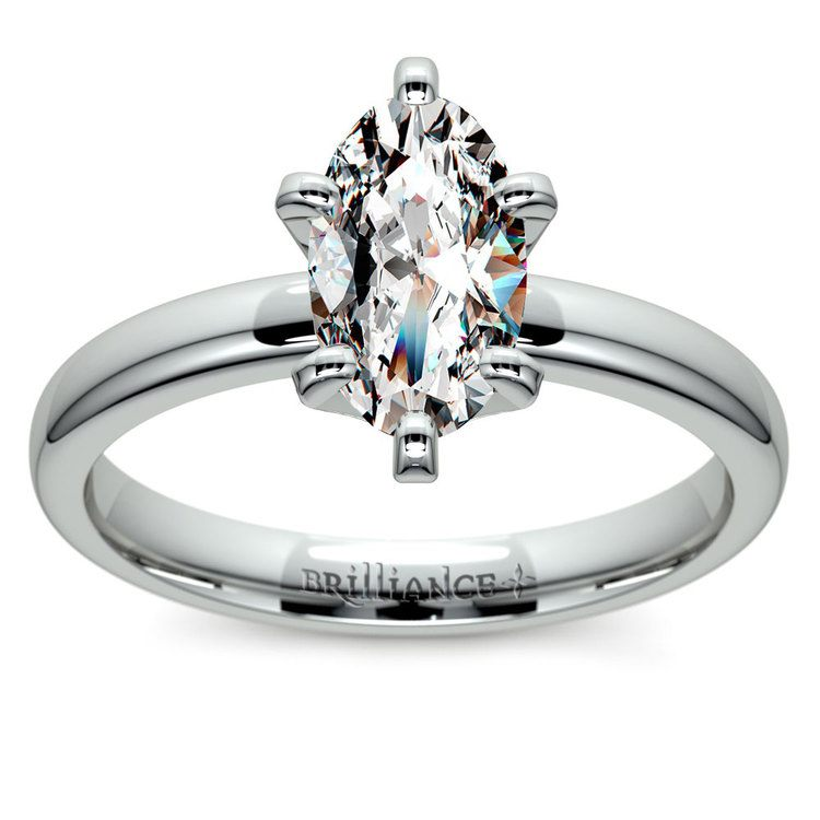 Oval Solitaire Engagement Ring (0.33 Carat Diamond)   02