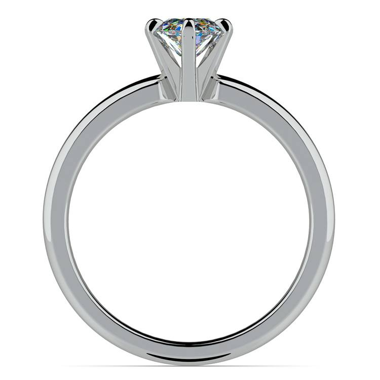 Oval Solitaire Engagement Ring (0.33 Carat Diamond)   04