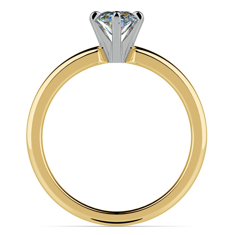Gold Oval Solitaire Engagement Ring (0.33 Carat Diamond) | 04