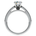 Pave Cathedral Diamond Engagement Ring in White Gold (1/4 ctw) | Thumbnail 02