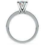 Pave Diamond & Pink Sapphire Gemstone Engagement Ring in Platinum | Thumbnail 02