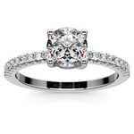 Pave Diamond Preset Engagement Ring in Platinum (1 1/4 ctw) | Thumbnail 02