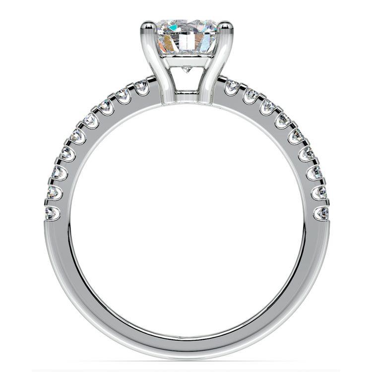 Pave Diamond Preset Engagement Ring in Platinum (1/3 ctw) | 04