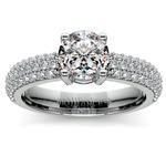 Pave Diamond Engagement Ring in Platinum | Thumbnail 01