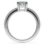 Pave Diamond Engagement Ring in Platinum | Thumbnail 02
