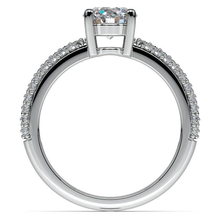 Pave Diamond Engagement Ring in Platinum | 02