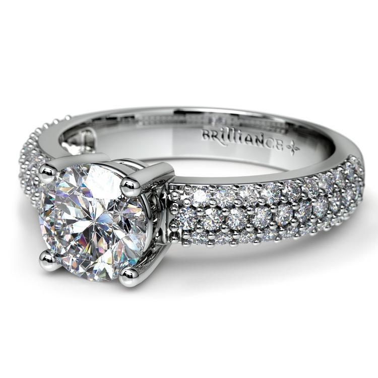 Pave Diamond Engagement Ring in Platinum | 04