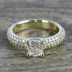 Pave Diamond Engagement Ring in Yellow Gold | Thumbnail 05