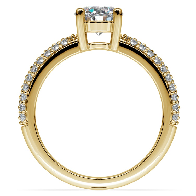 Pave Diamond Engagement Ring in Yellow Gold | 02