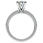 Pave Emerald Gemstone Engagement Ring in Platinum | Thumbnail 02