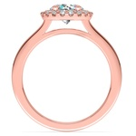 Pave Halo Diamond Engagement Ring in Rose Gold | Thumbnail 02