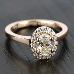 Pave Halo Diamond Engagement Ring in Rose Gold | Thumbnail 05
