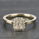 Pave Halo Diamond Engagement Ring in Yellow Gold  | Thumbnail 05