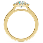 Pave Halo Diamond Engagement Ring in Yellow Gold  | Thumbnail 02