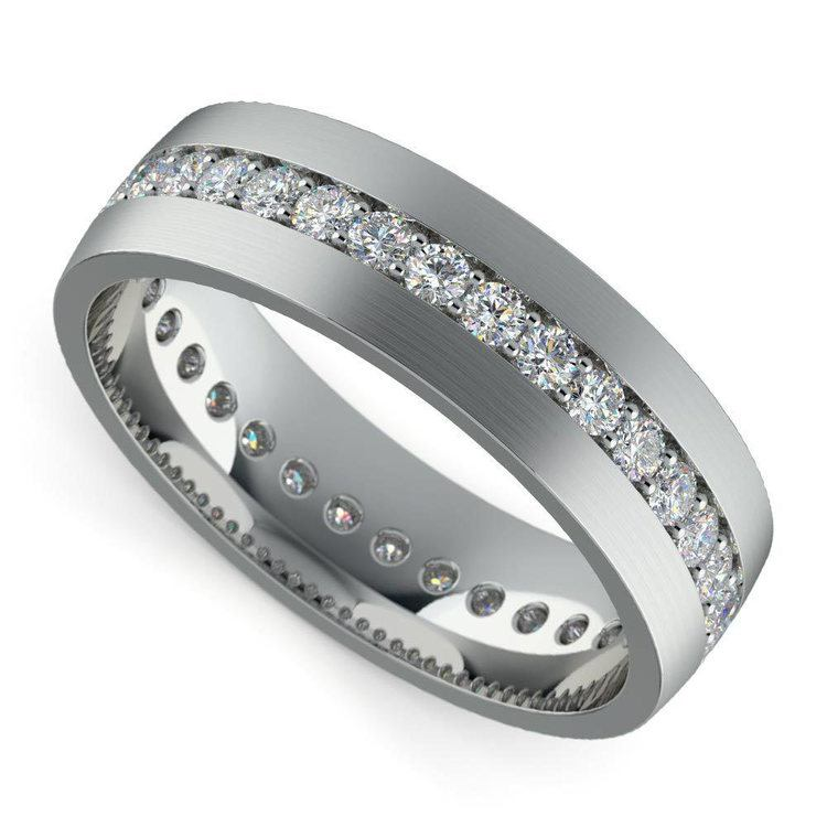 Pave Platinum Diamond Eternity Men's Engagement Ring | 03