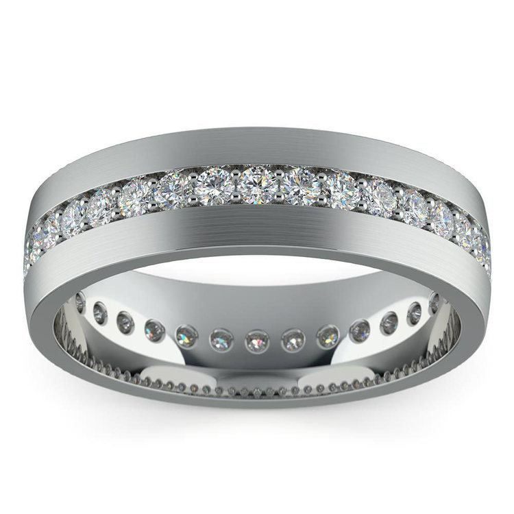 Pave Platinum Diamond Eternity Men's Engagement Ring | 04