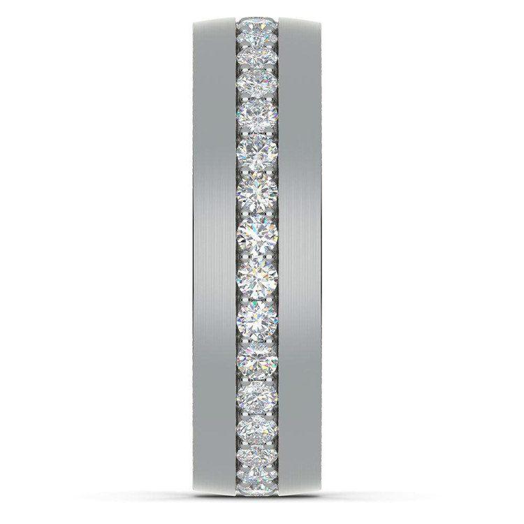 Pave Platinum Diamond Eternity Men's Engagement Ring | 05