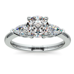 Pear Diamond Engagement Ring in Platinum (1/2 ctw) | Thumbnail 01