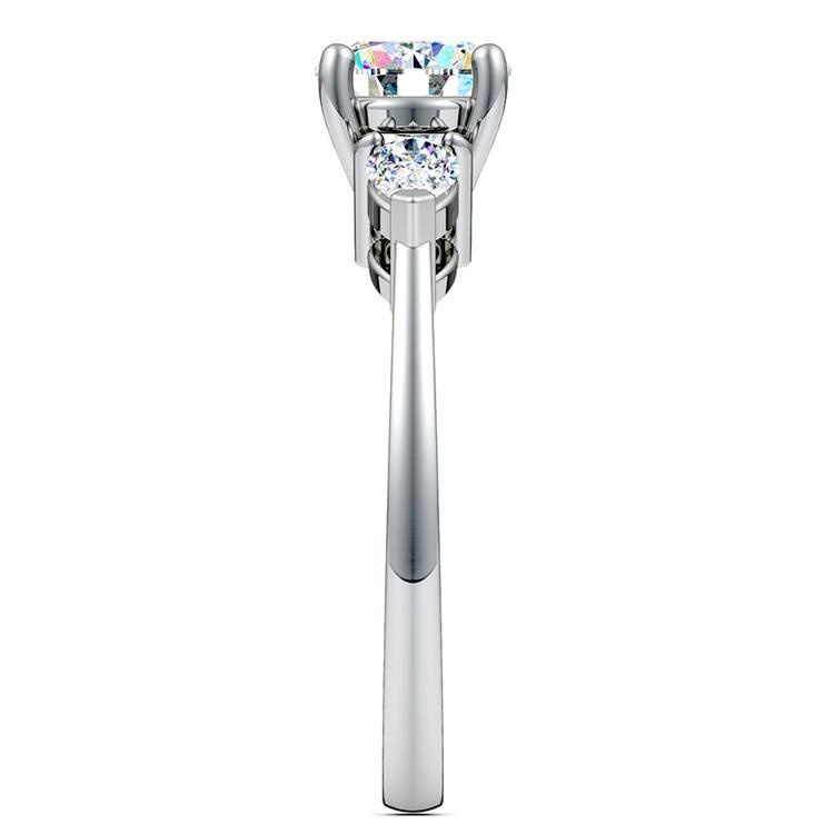 Pear Diamond Engagement Ring in Platinum (1/2 ctw) | 03