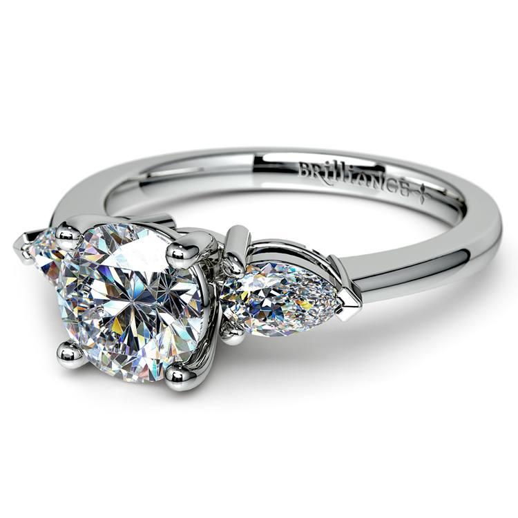 Pear Diamond Engagement Ring in Platinum (1/2 ctw) | 04