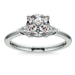 Pear Diamond Engagement Ring in Platinum (1/4 ctw) | Thumbnail 01