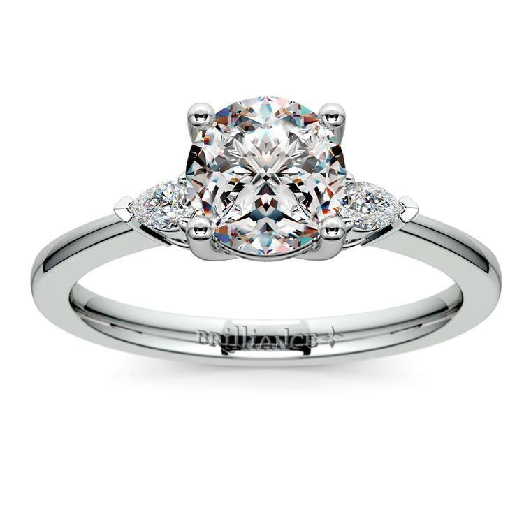 Pear Diamond Engagement Ring in Platinum (1/4 ctw) | 01