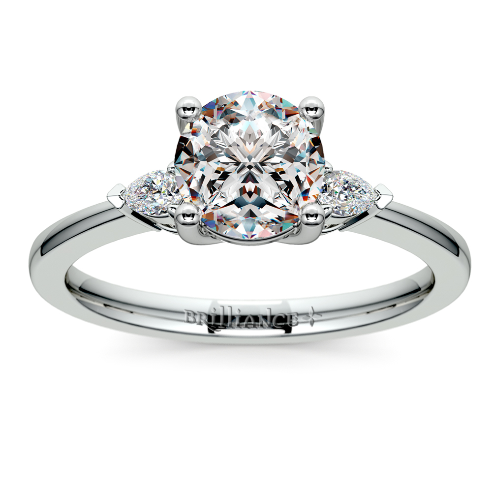 4 carat Pear Shape Diamond Engagement Ring