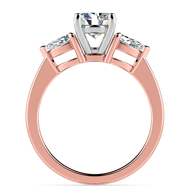 Pear Diamond Engagement Ring in Rose Gold (1/2 ctw) | 02
