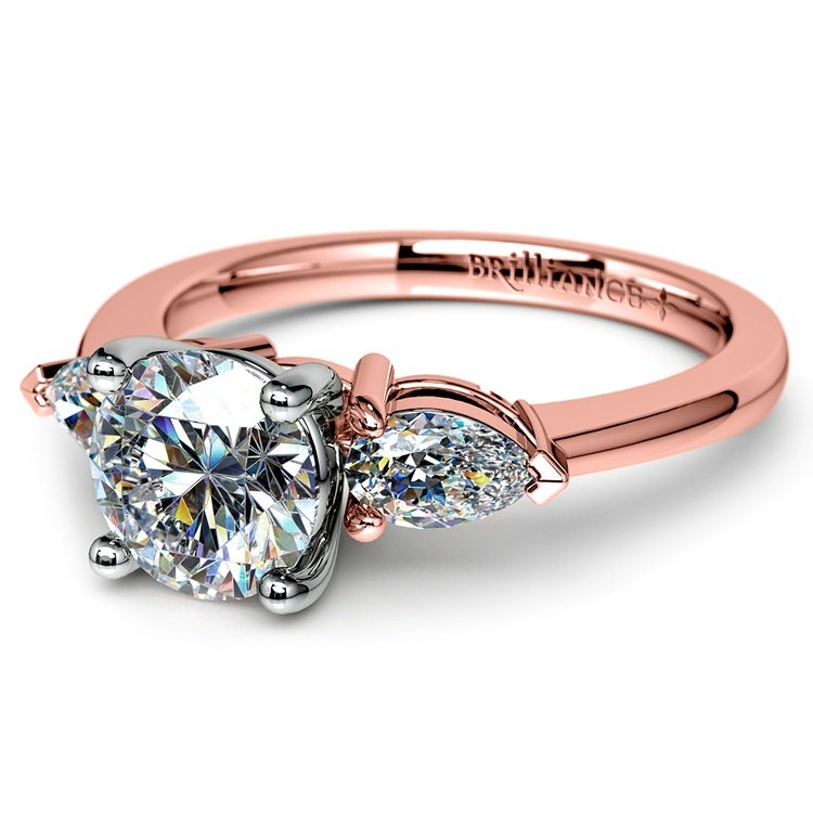 Pear Diamond Engagement Ring in Rose Gold (1/2 ctw) | 04