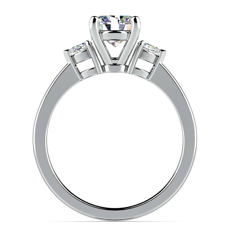 Pear Diamond Engagement Ring in White Gold (1/4 ctw) | 02