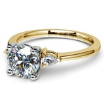 Pear Diamond Engagement Ring in Yellow Gold (1/4 ctw) | Thumbnail 04