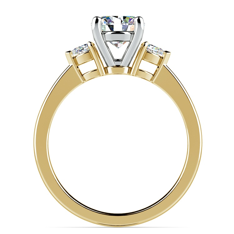 Pear Diamond Engagement Ring in Yellow Gold (1/4 ctw) | 02