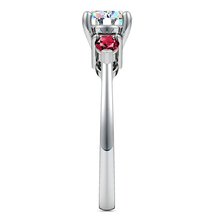 Pear Ruby Gemstone Engagement Ring in Palladium | 03