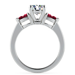 Pear Ruby Gemstone Engagement Ring in White Gold | Thumbnail 02