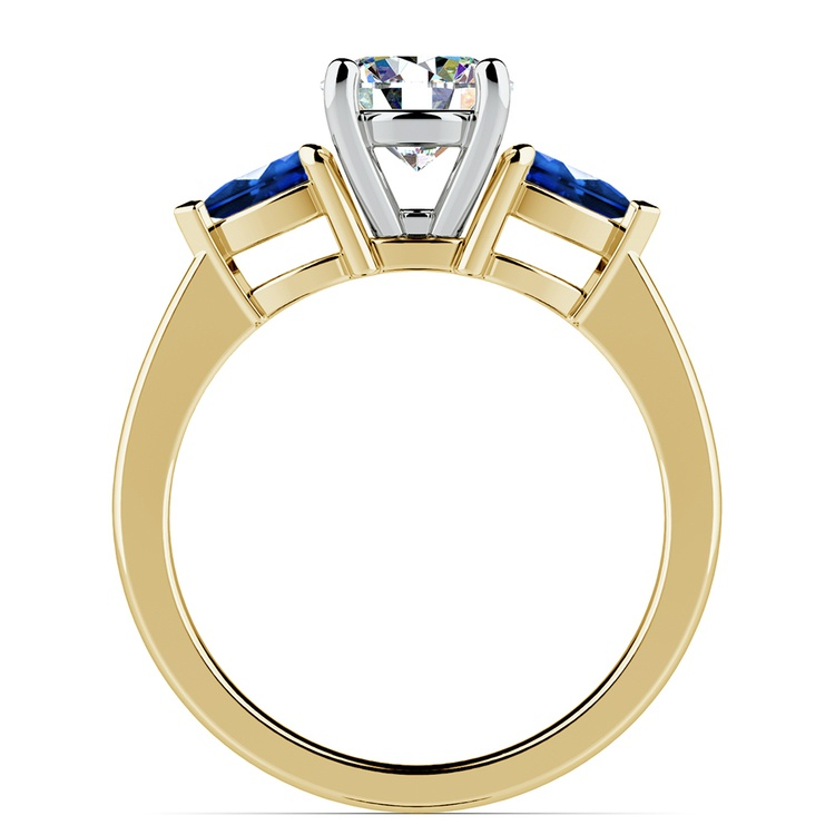 Pear Sapphire Gemstone Engagement Ring in Yellow Gold | 02