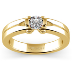 Perses Solitaire Mangagement™ Ring in Yellow Gold (1/2 ctw) | Thumbnail 01