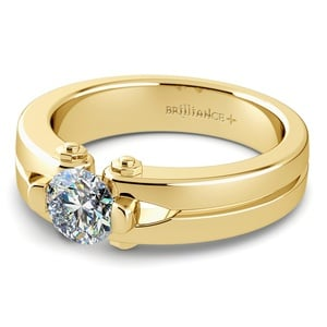 Perses Solitaire Mangagement™ Ring in Yellow Gold (1/2 ctw)