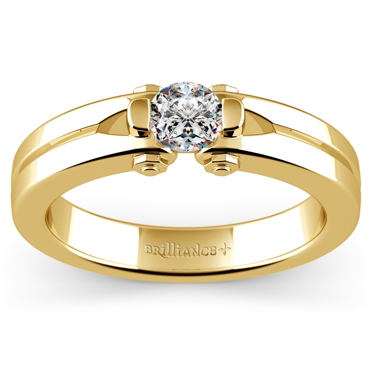 Perses Solitaire Mangagement™ Ring in Yellow Gold (1/2 ctw) | 01
